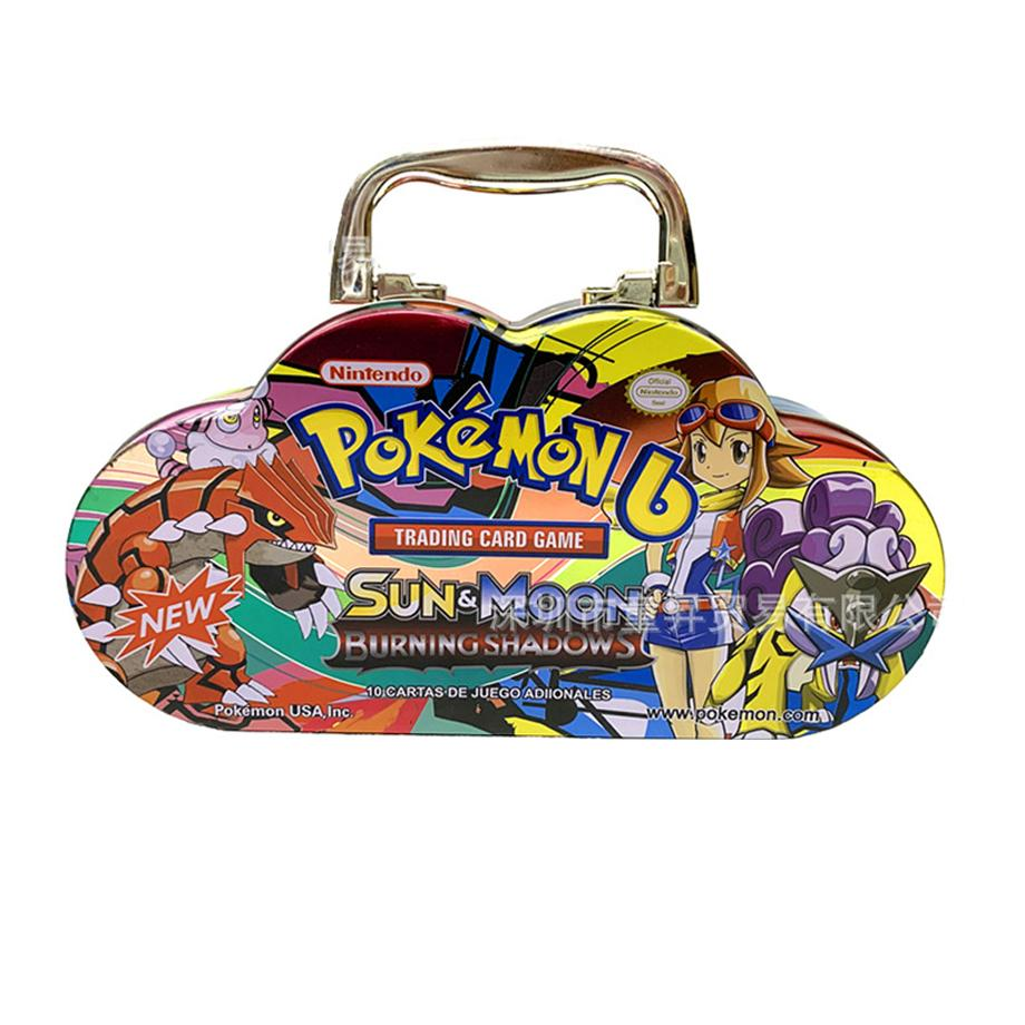 Pokemon Portable Tin 102pcs/set  Box TAKARA TOMY Battle Toys Hobbies Hobby Collectibles Game Collection Anime Cards For Children