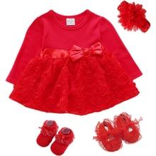 Платье для новорожденных девочек 1 год хлопковое платье с украшением