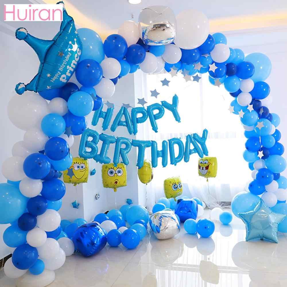 マカロン番号風船アーチ誕生日風船 1 2 3 4 1st 誕生日ハッピー誕生日パーティーの装飾キッズ大人バロン紙吹雪風船