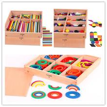 Новые деревянные детские игрушки froebel gabe 7 8 9 развивающие