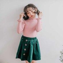 Вязаный свитер для девочек-подростков; сезон осень-зима; модный вязаный кардиган для маленьких девочек; детский топ