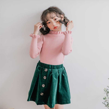 лучшая цена Back To School Knit Teenage Sweaters Girls' Children Clothing Autumn Winter Fashion Baby Girls Sweater Knitted Cardigan Kids Top