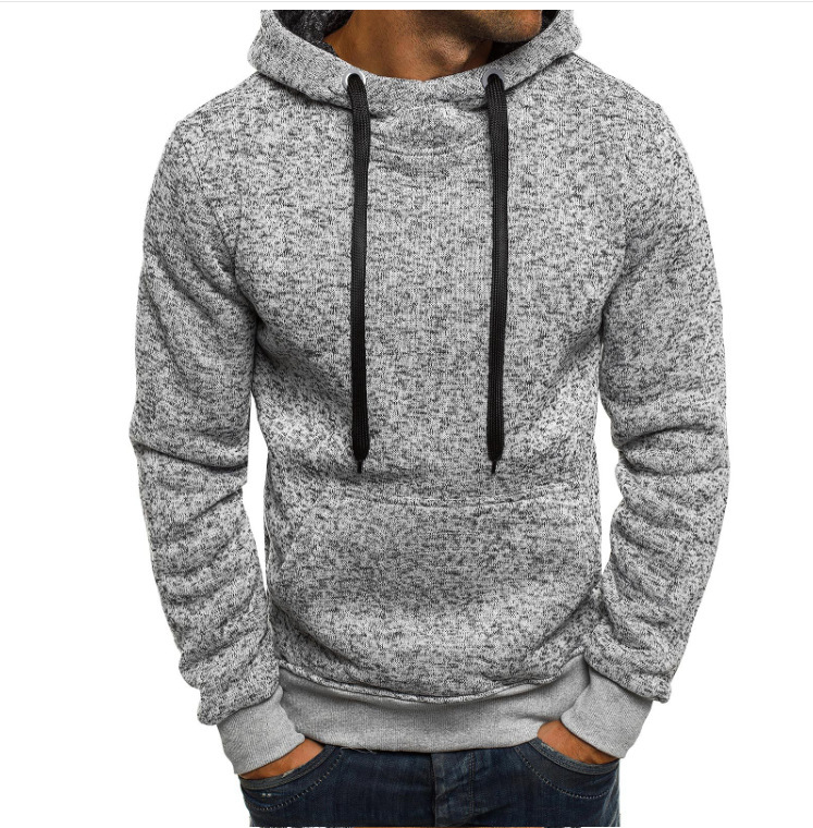 Hooded Mens Sweater Autumn Winter 2019 Long Sleeve Solid Fleece Tracksuit Pullovers Casual Sweater Men Sportswear Vetement Homme