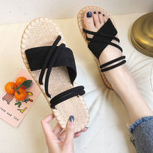 Fashion Ladies Elegant Pure Color Flat Heel Slippers Casual Sandals Women Shoes Sandalia Feminina Босоножки Женские Dropship #20(China)