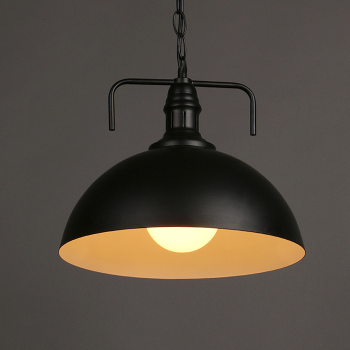 Wind Personality Lid A Chandelier Originality Coffee Restaurant Bedroom Bar Counter Wrought Iron Semi-circle A Chandelier