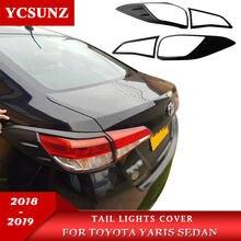 Rückleuchten Abdeckung Für Toyota Yaris Fließheck Limousine 2018 2019 Zubehör hinten licht Lampe Haube Teile Für toyota yaris Ycsunz