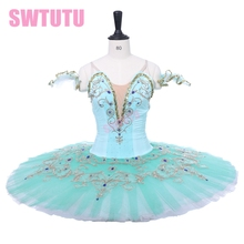 Adult Professional Ballet Tutus Green Coppelia Ballerina Classical Costumes BT9234C Performance Stage Tutu For Girls