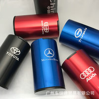 【Custom Car Logo】 Car Universal Cover Creative Personality Car Multi-function Car Ashtray Metal Tide Brand