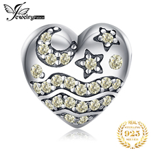 JewelryPalace Star Moon 925 Sterling Silver Beads Charms Silver 925 Original For Bracelet Silver 925 original For Jewelry Making