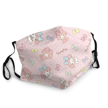 Cute Anime Face Mask My Melody Hello Kitty Sisters Custom Face Shield Washable Reusable Adult Kids Face Masks With Filter