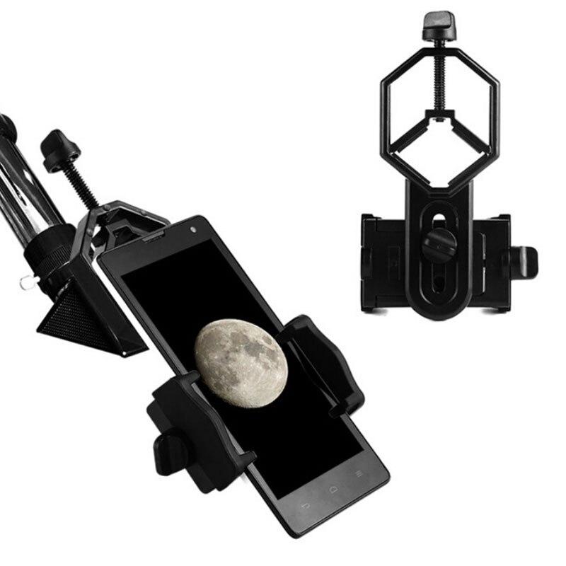 Adaptador Universal para teléfono móvil, montura Monocular, accesorios para microscopio, adaptador para telescopio, pinza de teléfono móvil, accesorio de soporte Palanca telescópico de acero de aleación pluma varilla de vidrio de romper martillo 19cm hasta 40cm de acero palo arma-Instrumento de coche auto- defensa de protección