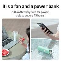 Baseus Portable Folding USB Fan Mini Cooling Fan Rechargeable 2 Speed USB Cooler Fan 2000mAh Emergency Power Bank Cooling Fan