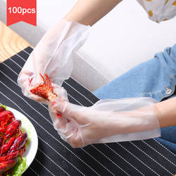 Vanzlife одноразовый Прозрачный утолщение Омар Перчатки кухня пластиковые выпечки гигиенические пищевая пленка 100 шт. в партии