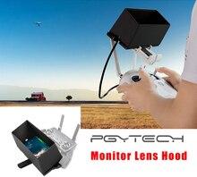 Pgytech smartphone monitor capa de controle remoto sun sombra capa para dji mavic mini/pro/ar/fantasma 4/faísca controlador