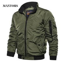 Mens Slim Fit Military Bomber Jackets 2020 Spring Autumn Men Casual Solid Zipper Pilot Jacket New Thin Stand Collar Male Coats