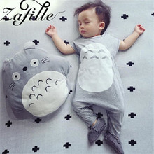 ZAFILLE 2020 Baby Jumpsuit Cartoon Baby Boy Clothes With Hat Cotton Baby Romper Short Sleeve Girls Clothing Newborn Kids Clothes