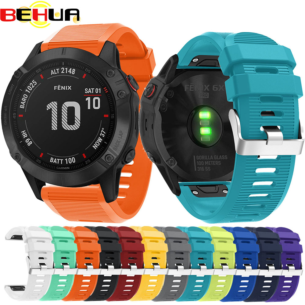 26mm 22mm <font><b>20mm</b></font> Watch <font><b>band</b></font> for <font><b>Garmin</b></font> Fenix 6X 6 6S Plus 3 3 HR Forerunner 935 Watch with Quick Release Easy fit Wrist Belt Strap image