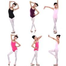 6-12Y Kids Girls Sleeveless Ballet Gymnastics Bodysuit Leotard Cotton Dance Suit Outfits cp20td1 12a cp20td1 12y cp30td1 12a cp30td1 12y cp50td1 12y