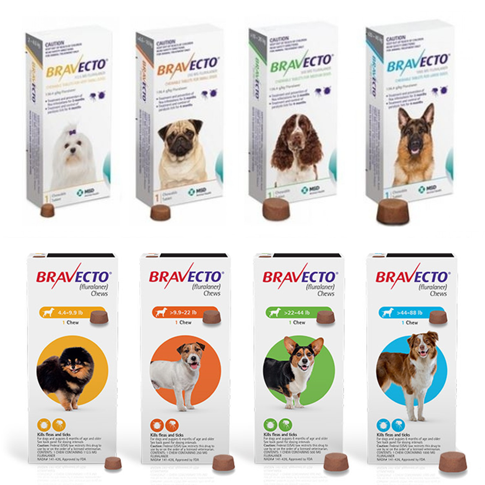 Bravecto Chews for Dogs Flea and Tick , Single 12-Week Dose