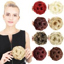 LVHAN волосы женские вьющиеся шиньон волосы булочка пончик клип в шиньон для наращивания синтетические высокотемпературные волокна шиньон