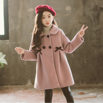 Children Jacket for Girls Winter Wool Warm Overcoat Fashion Girls Clothes Kids Outerwear Autumn Girls Coat 4 6 8 10 12 13 Years