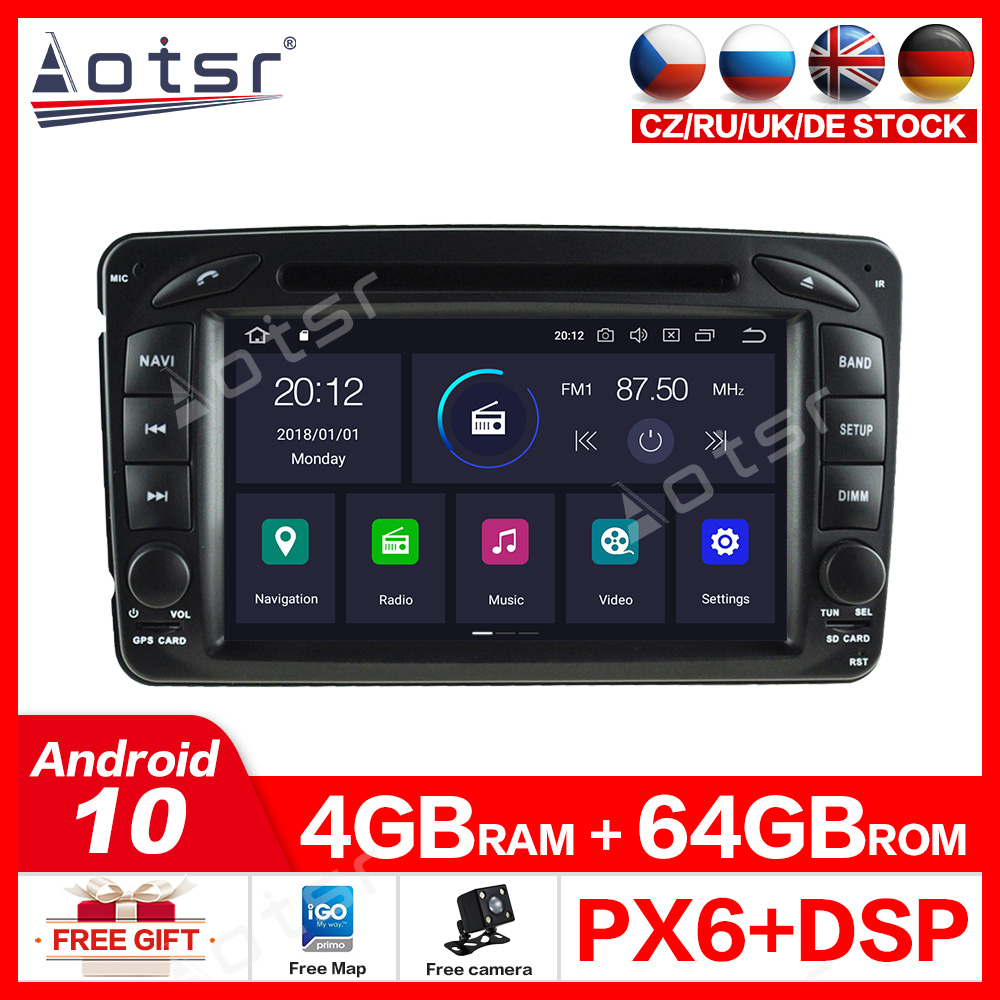 4G+64GB Android 10.0 <font><b>Car</b></font> DVD Player GPS Navigation For Mercedes Benz W209 W203 M <font><b>ML</b></font> <font><b>W163</b></font> Viano W639 Vito Vaneo DVD PLAYER Multi image