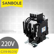 Przełącznik kondensator stycznik montaż na szynie din śruba CJ19-95 21E srebrny kontakt AC220V 380V CDC9-95A cheap SBLSBR