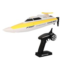 купить Feilun FT007 2.4G 4CH Water Cooling RC Racing Boat 20km/h Super Speed Electric RC Boat Toy Remote Control Boats дешево