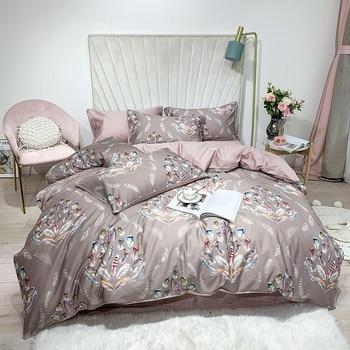 Egyptian Cotton Bedding Set Grey Bouquet
