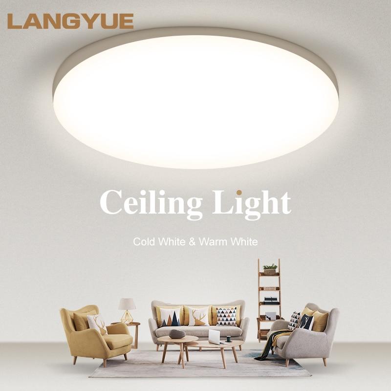 Luces Led de techo AC165-220V Panel de luz Led redondo 20W 30W 50W lámparas de techo Ultra finas para sala de estar Cocina