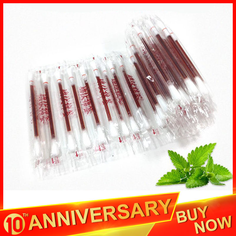 20/50/100Pcs Disposable Medical Iodine Cotton Swab Iodine Stick Emergency Disinfected Cotton Swab Wound Treatment Care Stick