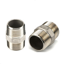 Stainless steel hexagonal male thread external screw thread joint straight through double head male thread outer wire joint