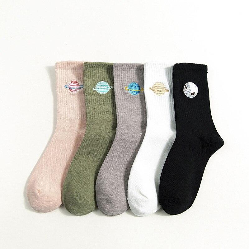 Lovely Cartoon Planet Pattern Women Girls Cotton Socks Autumn Winter Warm Socks