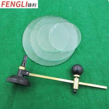 цены Single-Wheel Six-Wheel Oiling Compasses Cutting Knife Aluminum Alloy Glass Knife round Table Cutting Tool