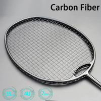 New Style Racket Ultra Light 4U G4 Max Tension 32-35 Pounds Black Badminton Rackets Strung Professional Racquet With Bag String