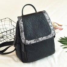 POMELOS 2019 new female backpack soft split leather designer women vintage small bagpack back bag rucksack