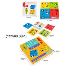 Funny Expression Puzzle Colorful Magic Cube Building Blocks Educational Toy M89C