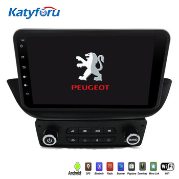 Android 8.1 android car radio player for Peugeot 308 with touch Screen 2G RAM NAVI MAP wifi 4g bluetooth rds steering wheel image