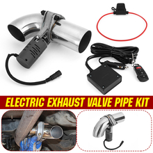 Universal 63mm 2.5  Electric Exhaust Valve Pipe Control Downpipe Cut Out Wireless Electric Remote Control Kit Pipe Muffler