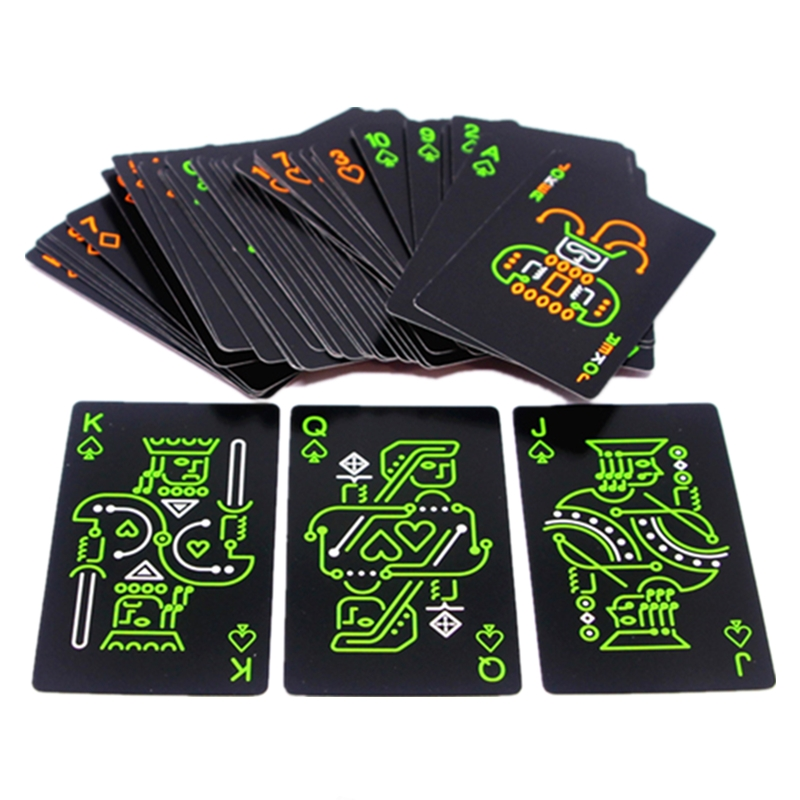 1 Pack Luminous Fluorescent Poker Cards Playing Card Glow In The Dark Bar Party KTV Night Light Cards Collection Special Poker