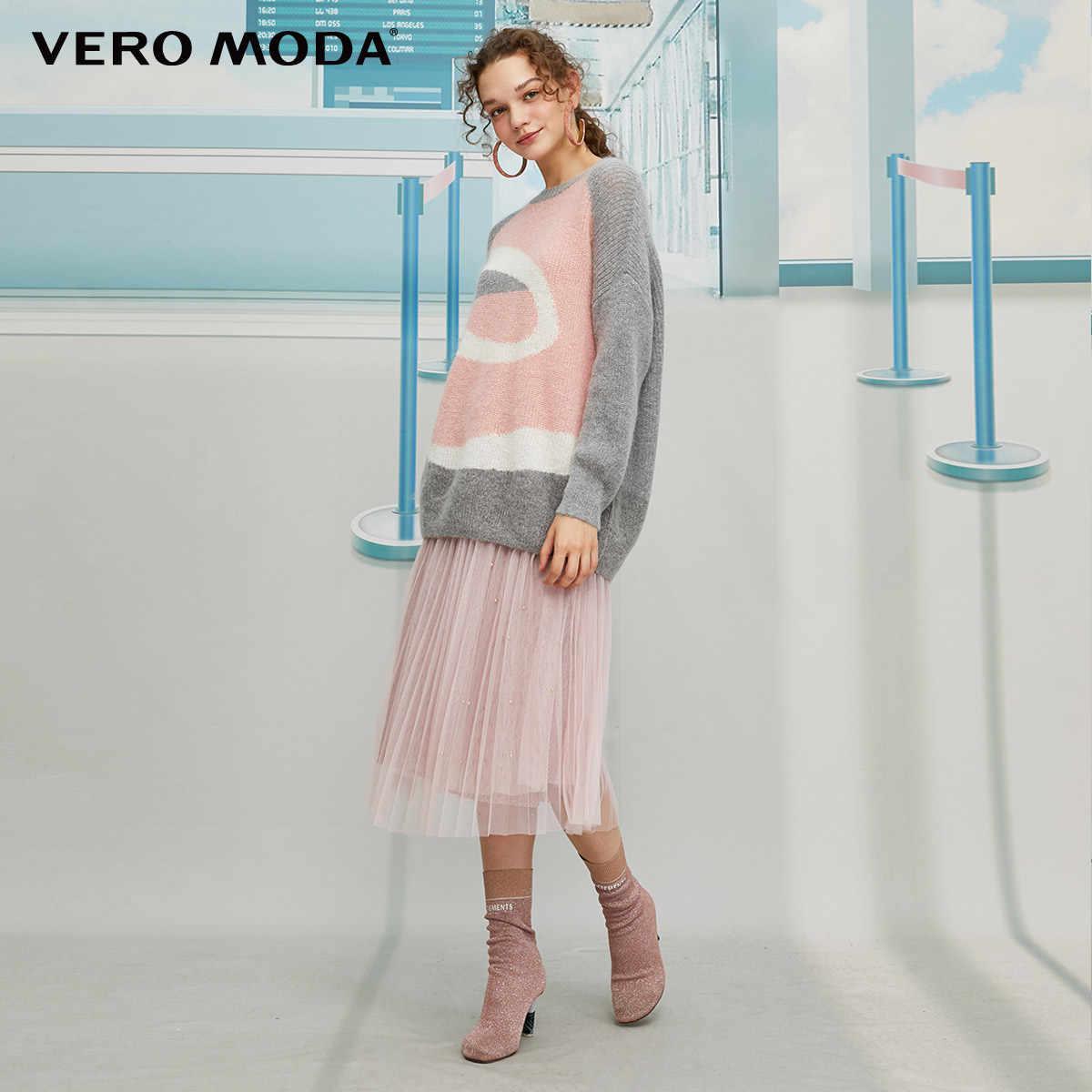 Vero Moda Nữ Phong Cách Vintage Morandi Chia Cotton Áo Len | 319413534