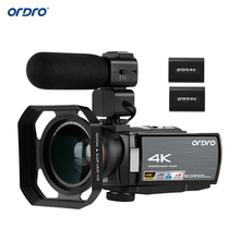 ORDRO HDV-AE8 4K 30MP 16X WiFi Digital Video Camera 3Inch IPS Touchscreen Camcorder