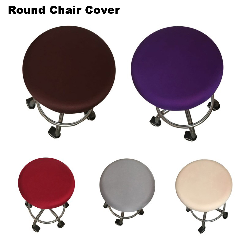 New Round Chair Cover Bar Stool Cover Elastic Seat Cover Home Chair Slipcover Round Chair Bar Stool Floral Printed