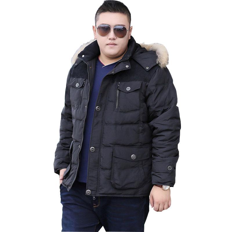 New Winter Park Cotton Hooded Jacket Men's Warm Coat Fashion Casual Jacket Thicken Oversize XL-6XL 7XL 8XL 9XL Men's Coat