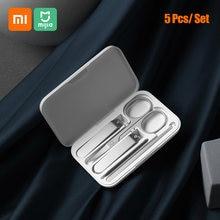 Xiaomi Mijia coupe-ongles ensemble acier inoxydable tondeuse pédicure soins tondeuses Earpick lime à ongles professionnel beauté tondeuse outil