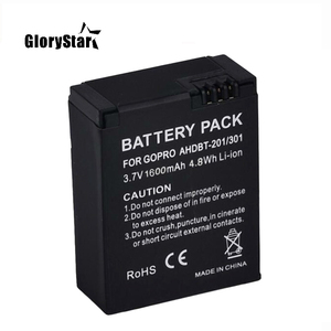 Image 3 - 1600mah For Gopro Ahdbt 201/301 Camera Battery For Gopro Hero 3 3+ Ahdbt 301, Ahdbt201 Ahdbt301 Battery For Go Pro Accessories