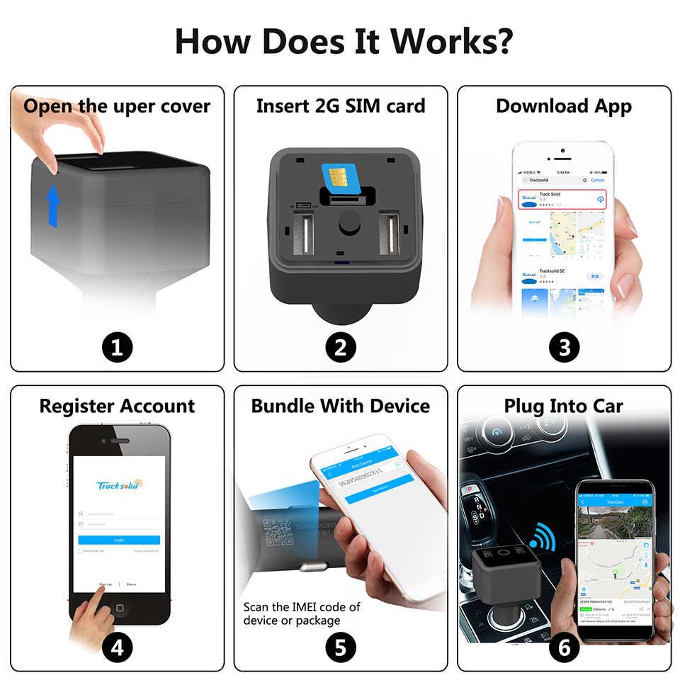Concox HVT001 Mini Mobil Charger GPS Tracker Dual Port Pengisian Real Time Pelacakan Perangkat GSM GPRS Pelacakan dengan Perangkat SOS call
