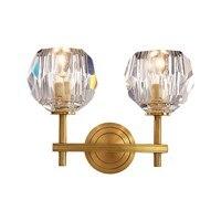 מסורתי מלא פליז קיר מנורת שחור זהב זכוכית צל סלון קיר רכוב אור וילה יוקרה אמנות קישוט מנורת E14 הנורה