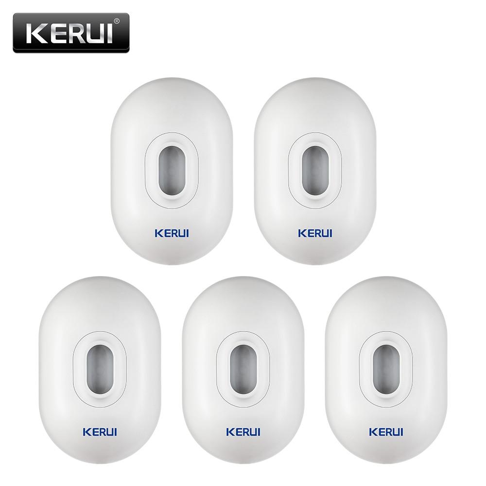 KERUI P861 Outdoor Waterproof PIR Motion Sensor Detector For Wireless Security Alarm System 5P lot Driveway Garage Burglar Alarm