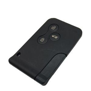 Image 2 - חדש 1 Pc רכב 3 כפתור 433Mhz 7947 שבב עם חירום הכנס להב חכם מרחוק מפתח עבור רנו מגאן סניק 2003 2008 כרטיס